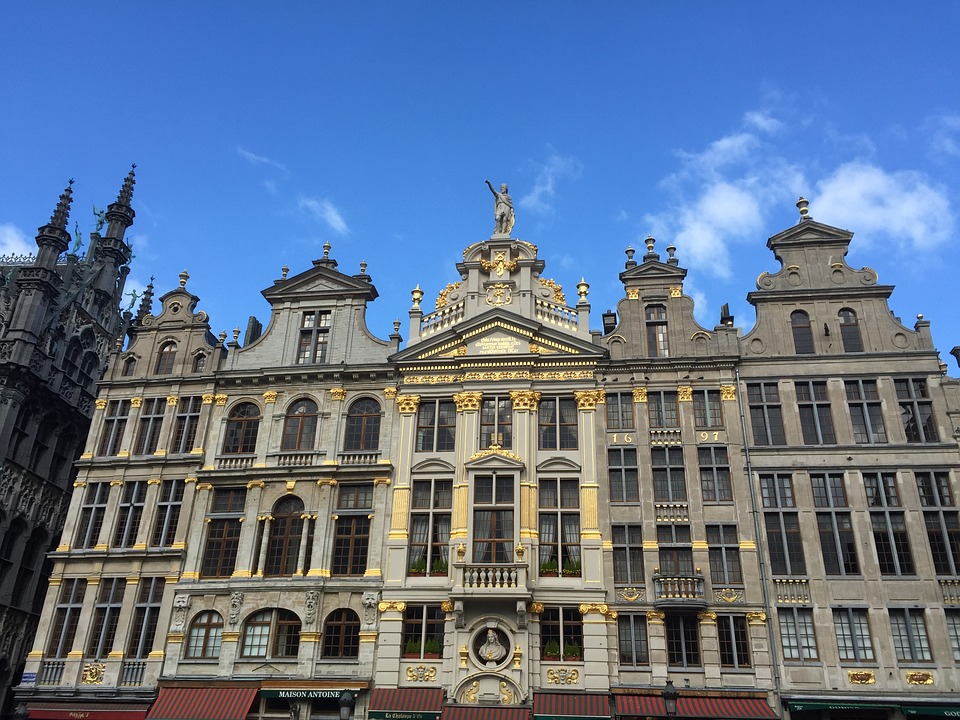 Brussels, Building, Architecture, Tower, Air, Buildings