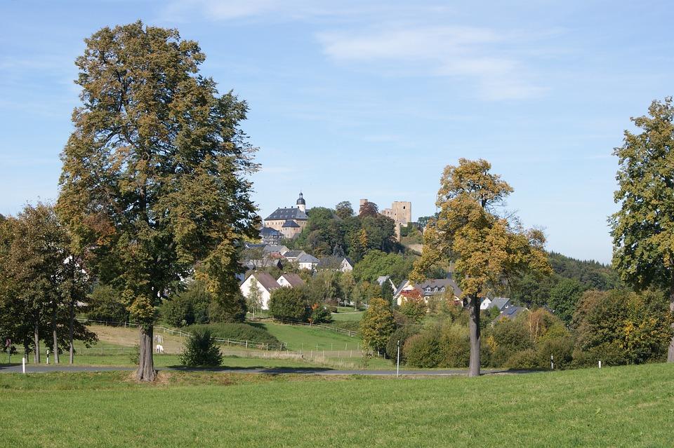 Frauenstein, Germany, Landscape, Buildings, Church