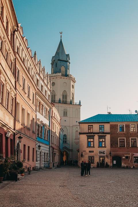 Street, Buildings, Town, Church, Urban, Old Town