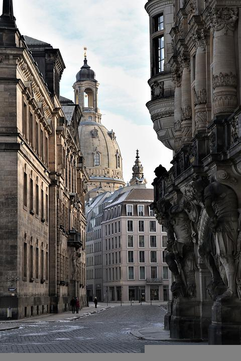 Dresden, Buildings, Street, Road, City, Architecture