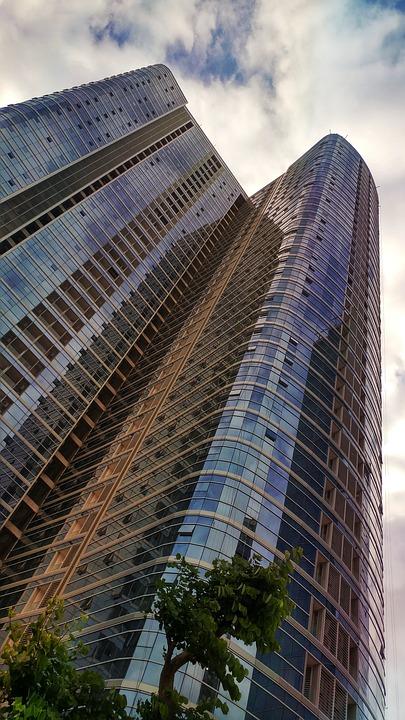 Buildings, Facade, Modern, Tower, Curtain