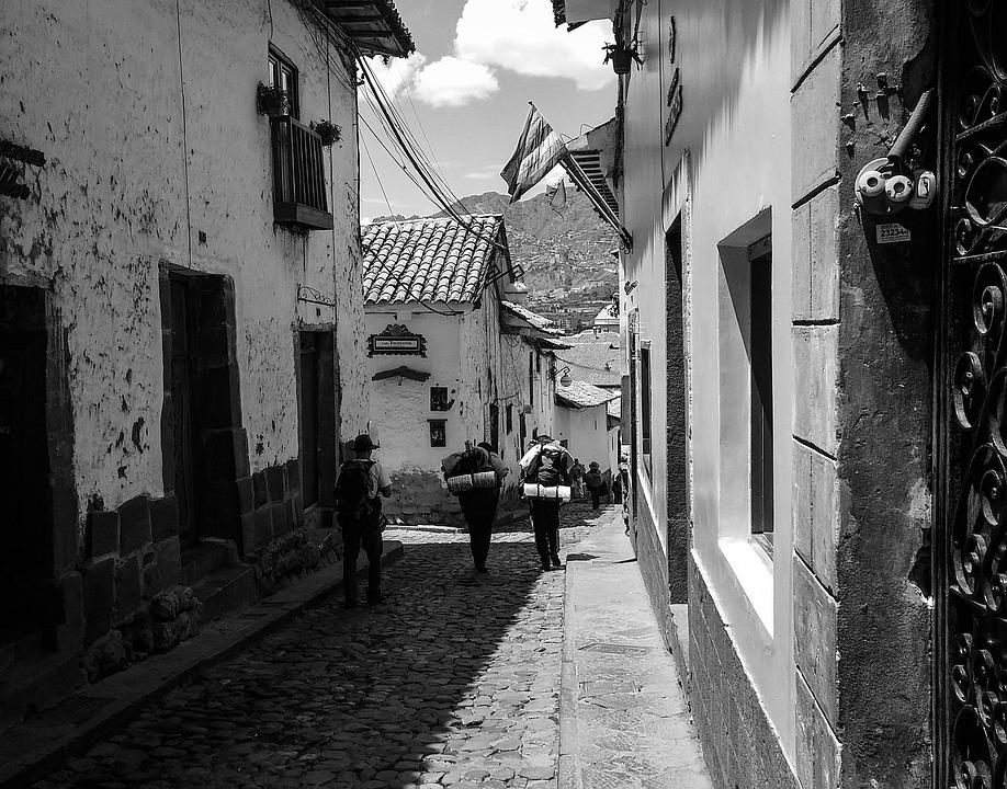 Travelers Cusco Peru Wallpaper Buildings City