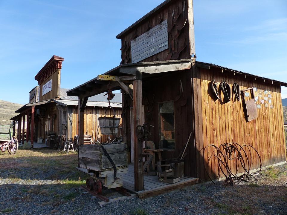 Deadman, Ranch, Ancient, Buildings, Wooden