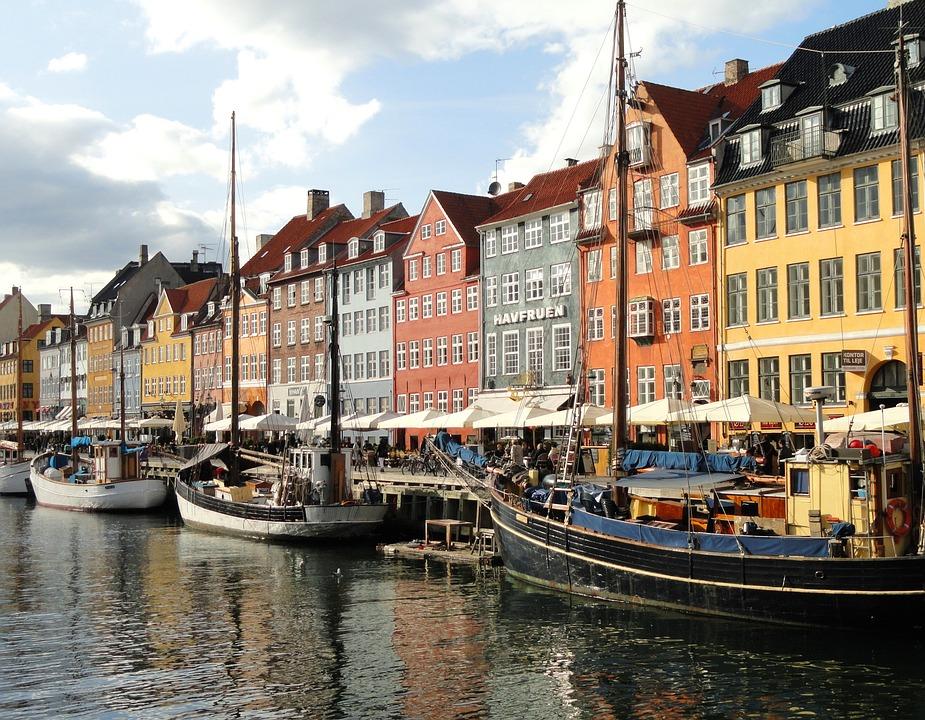 Copenhagen, Denmark, Canal, Water, Boats, Buildings