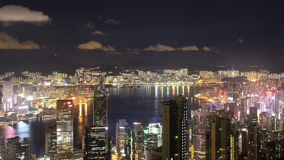 Hong Kong, Cityscape, Buildings, Water, Skyline