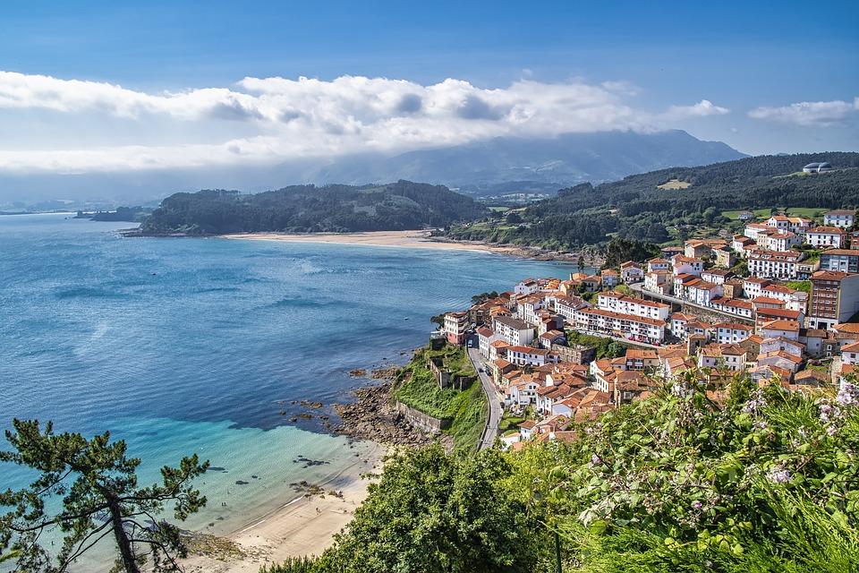 Town, Coast, Sea, Llastres, Asturias, Buildings