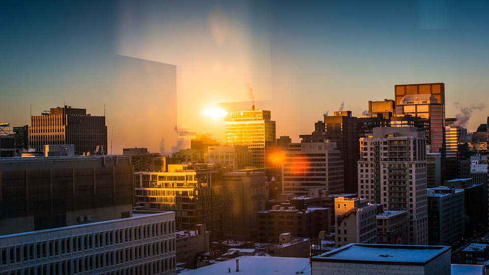 City, Buildings, Cityscape, Urban, Montreal, Reflection