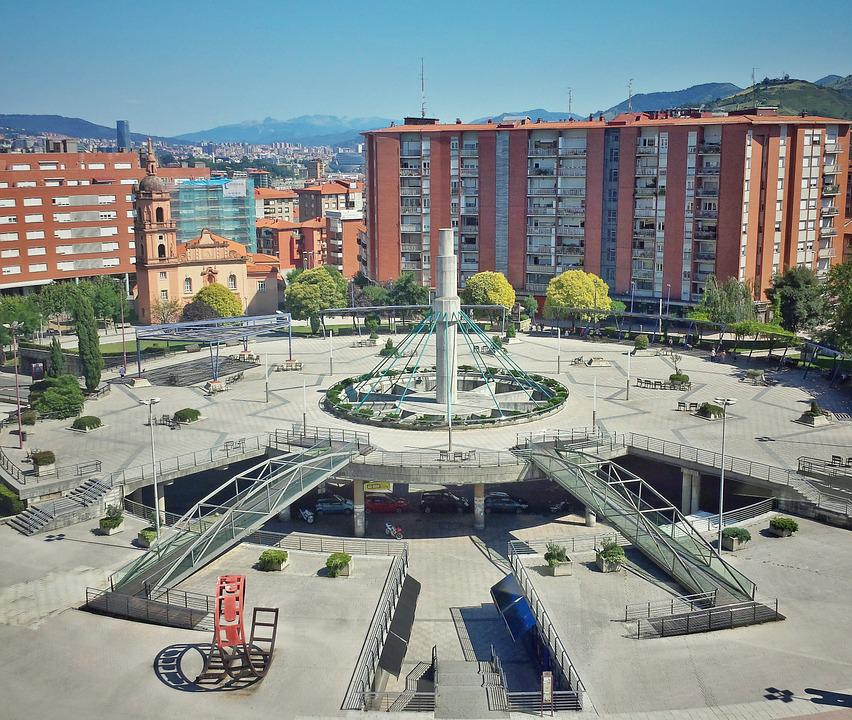 Plaza, Buildings, Architecture