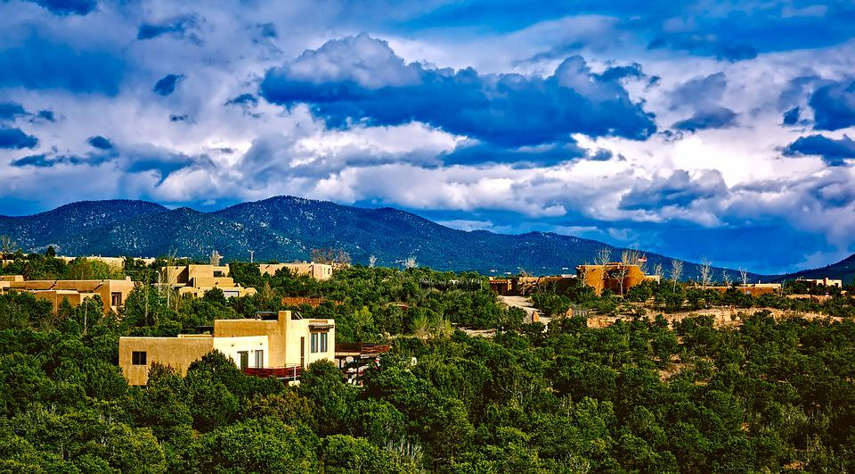 Santa Fe, New Mexico, City, Urban, Buildings, Sky