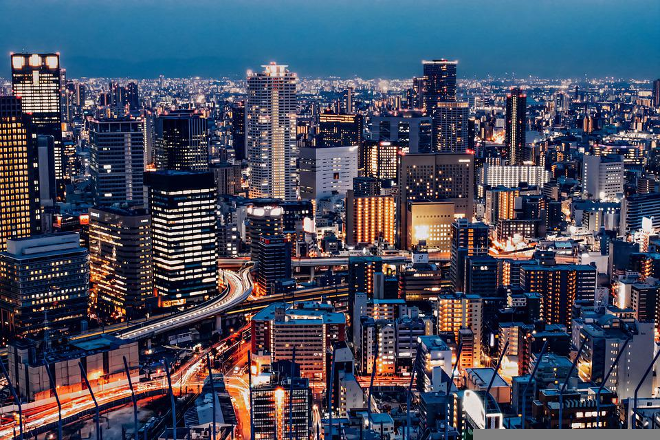 City, Buildings, Night, City Lights, Skyscrapers