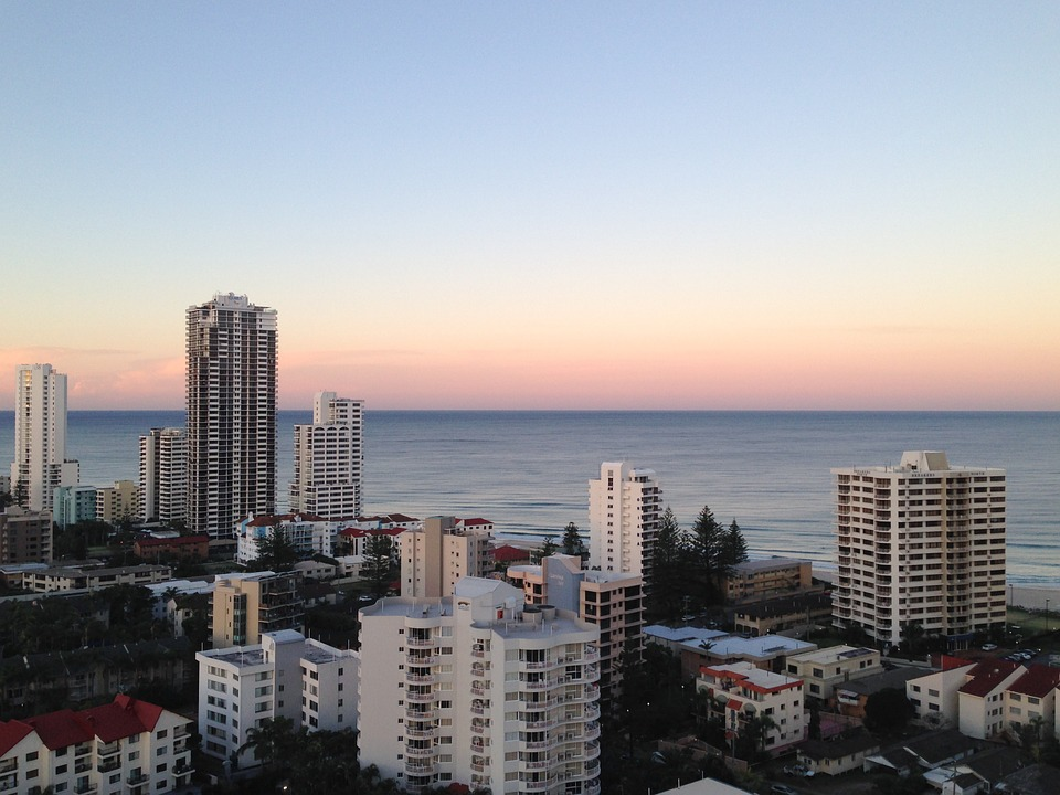 Gold Coast, City, Buildings, Skyscrapers, Skyline, Dusk