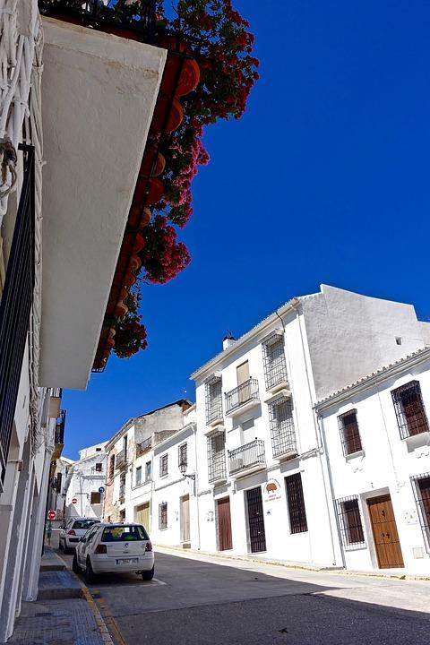 Streetscape, Street, White, Buildings, Urban