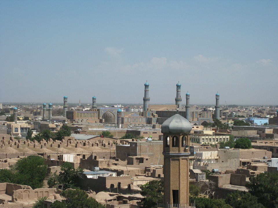 Herat, Afghanistan, City, Urban, Buildings, Structures