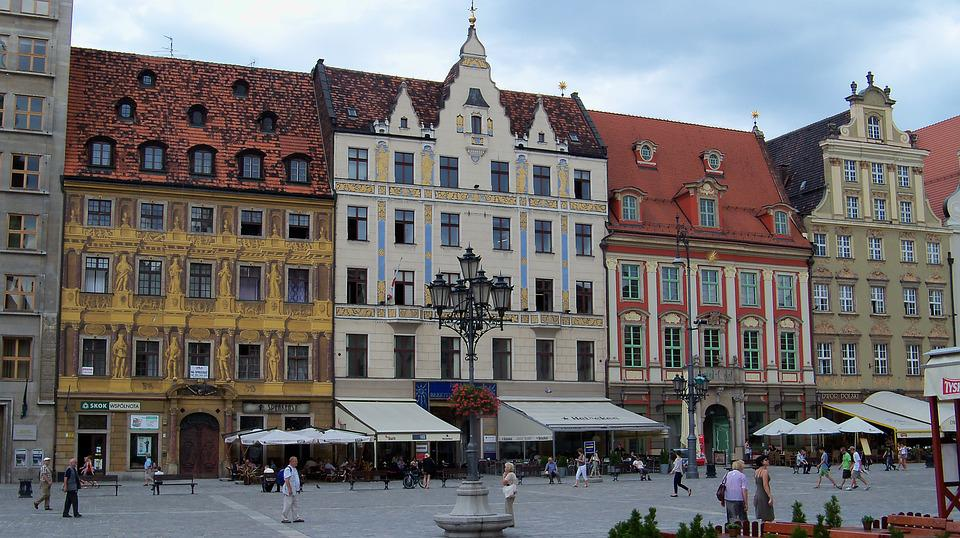 Wroclaw, Piazza, Buildings