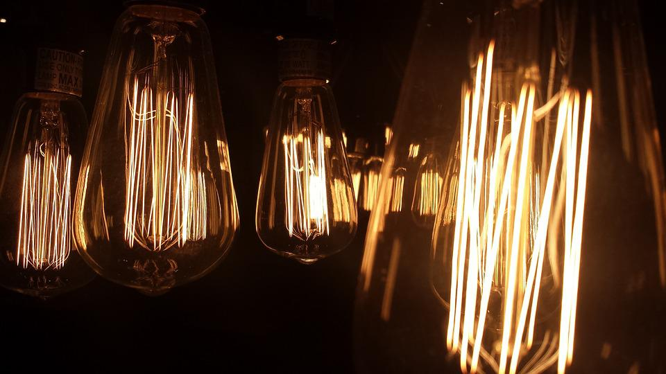 Vintage, Bulb, Bulb In Darkness, Light, Vintage Bulb