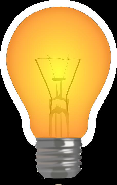 Light, Bulb, Filament, Lamp, Orange, Technology