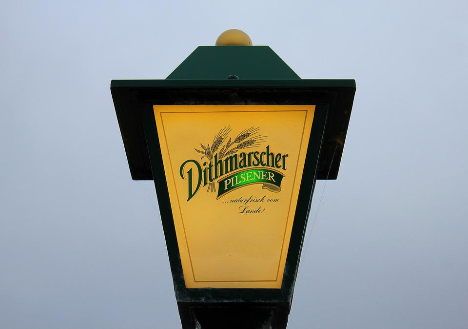 Lamp, Advertising, Beer, Brewery, Bulbs, Dithmarsch