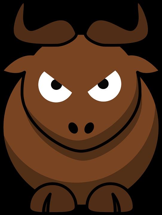 Gnu, Angry, Animal, Cute, Funny, Mammal, Bull