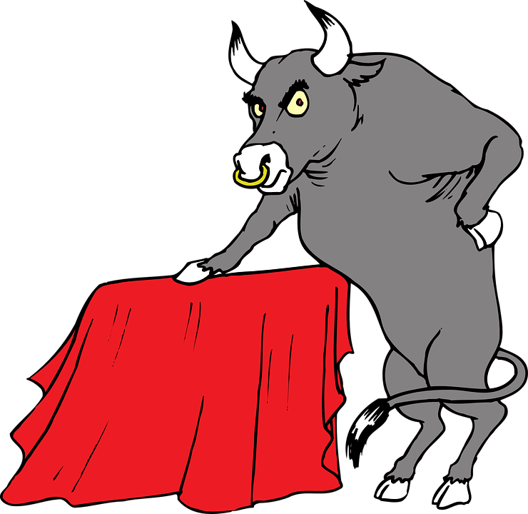 Red, Bull, Horns, Animal, Tail, Cape
