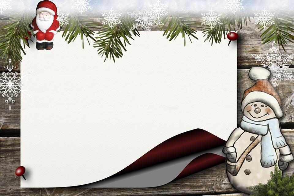 Bulletin Board, Holly, Santa Claus Snowman, Paper