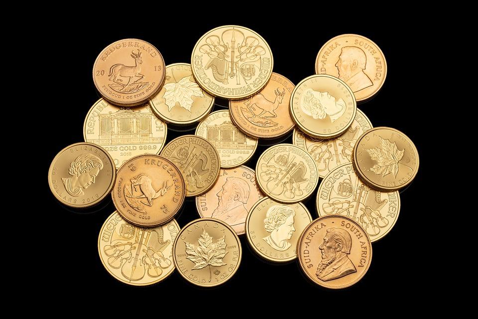 Golden, Bullion, Coins, Money, Wealth, Gold, Commercial
