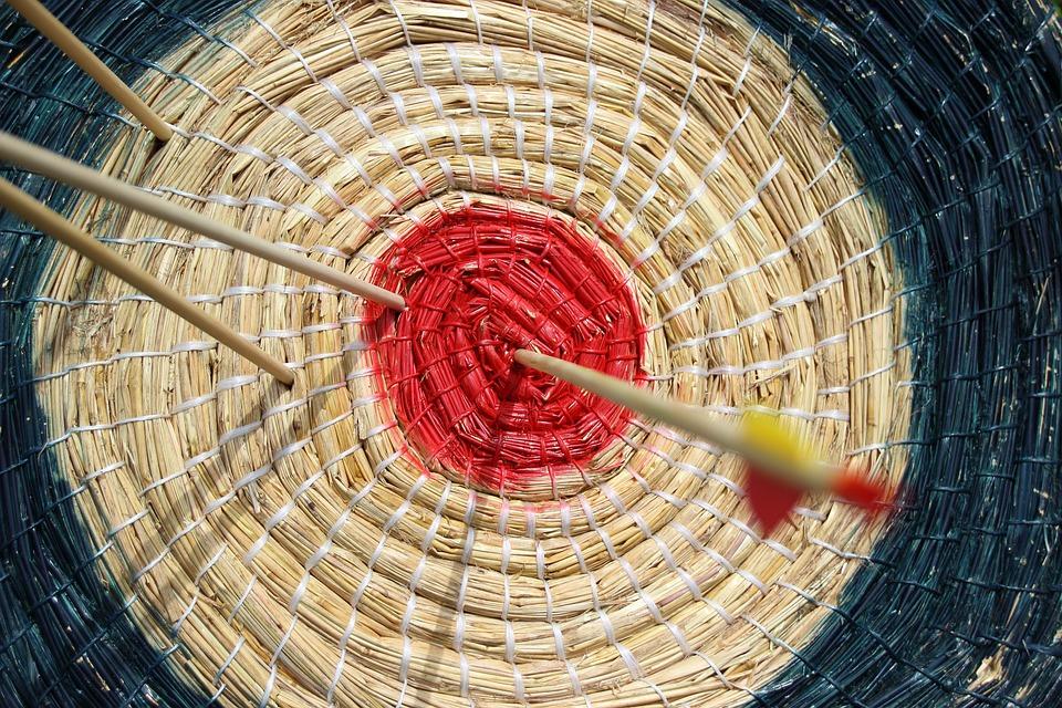 Target, Arrow, Middle, Bull's Eye, Archery, Disc