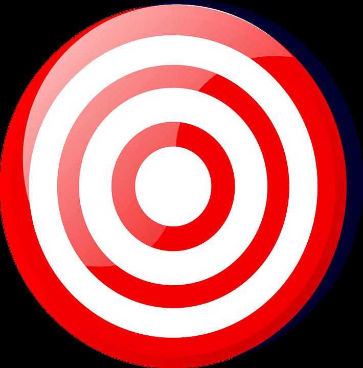 Target, Bull's Eye, Red, White, Accurate, Winning