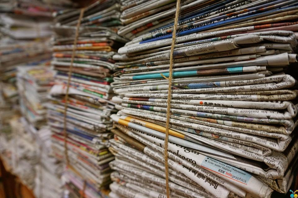 Bundle, Jute Rope, Newspaper, Old Newspaper, Stack