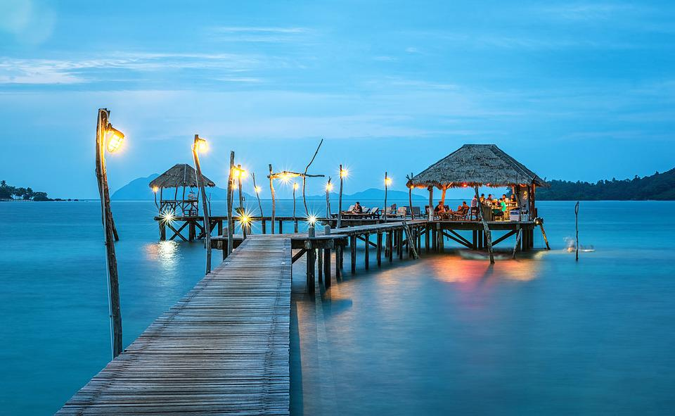 Jetty, Thailand, Ocean, Sea, Resort, Harbor, Bungalow