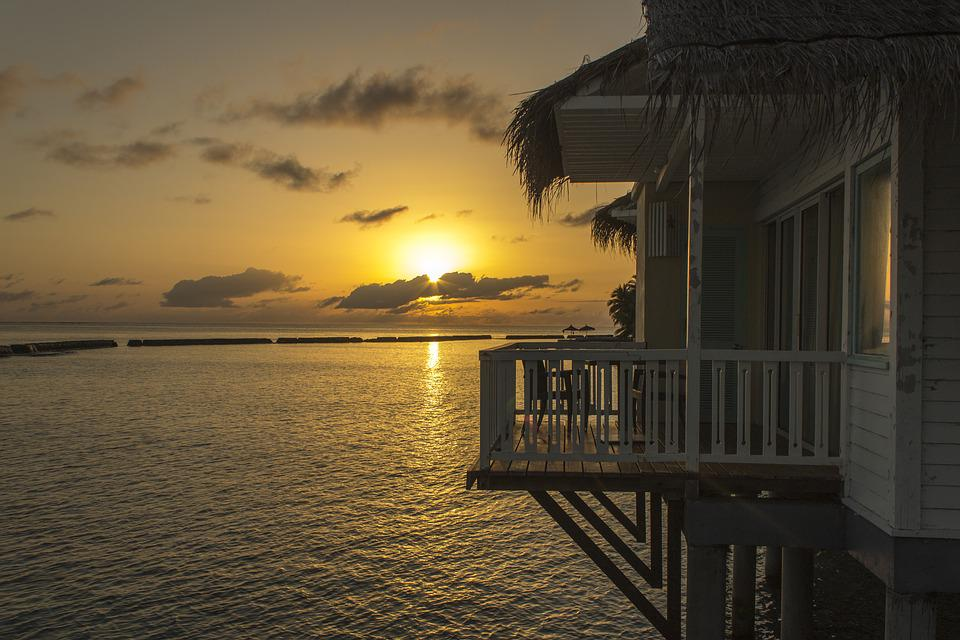 The Maldives, Overwater, Bungalow, Holiday, Paradise