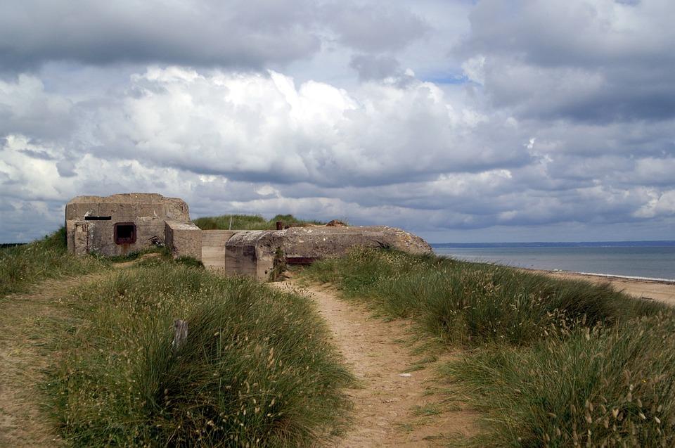 France, Normandy, Utah Beach, Bunker, Coast, Beach