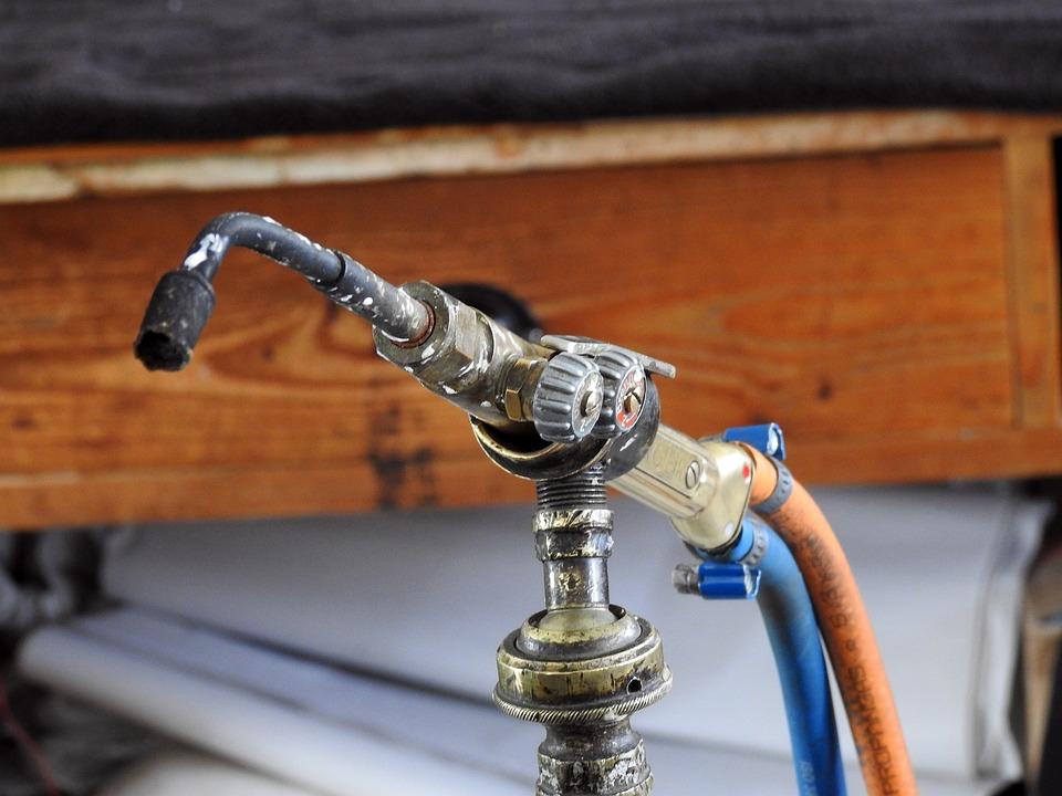 Bunsen Burner, Gas Burner, Tool, Workshop, Work, Metal