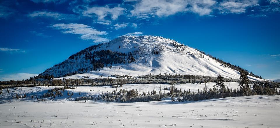 Bunson Peak, Yellowstone, Landscape, Winter, Snow