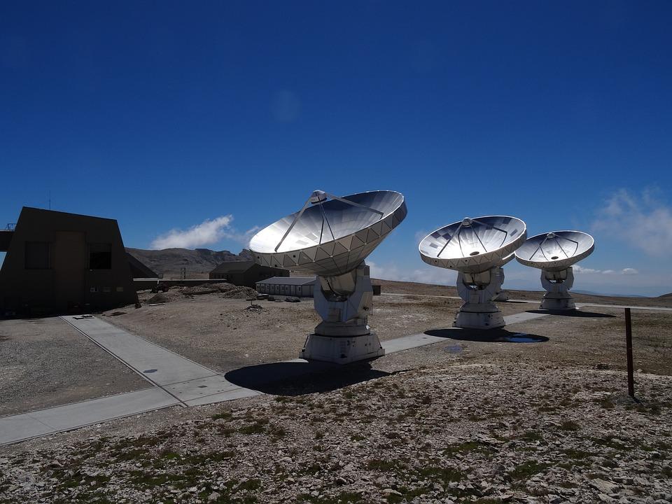 Antennas, Radio Telescope, Bure Peak