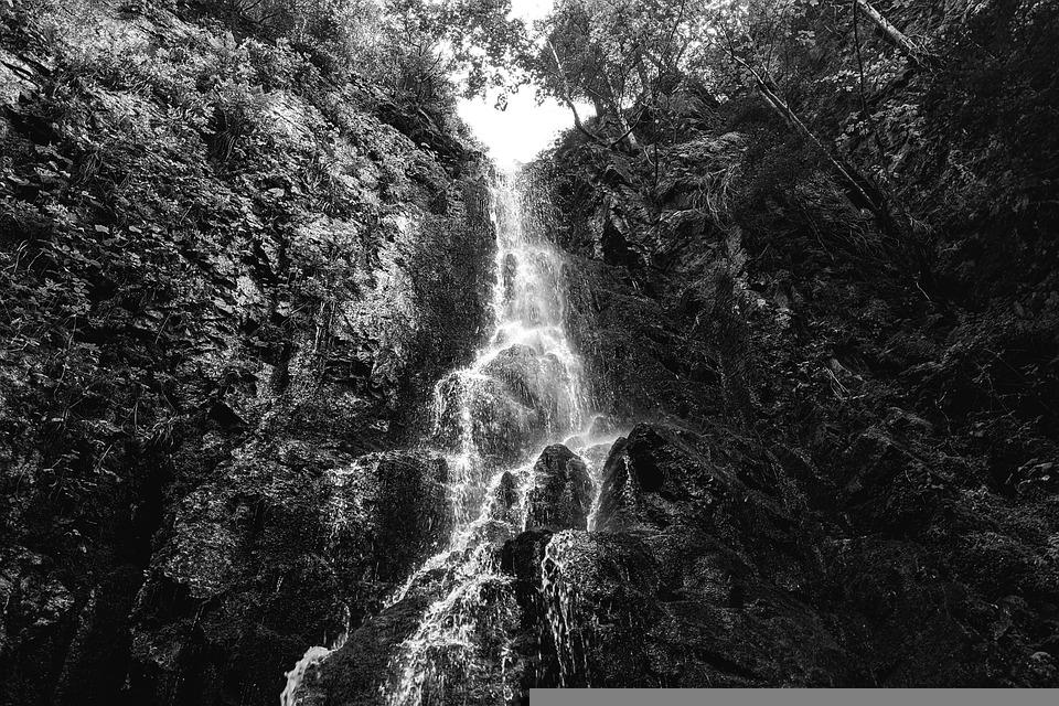 Burgbach Waterfall, Germany, Black Forest