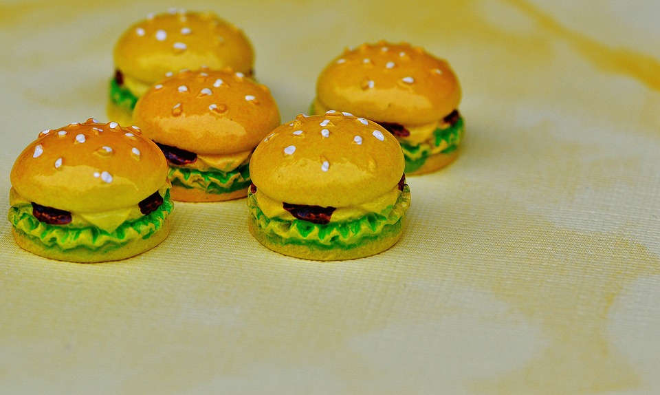 Cheeseburger, Burger, Miniature, Ceramic, Funny