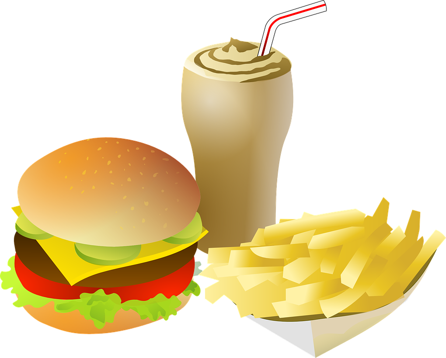 Cheeseburger, Drink, Fries, Food, Menu, Burger, Meal