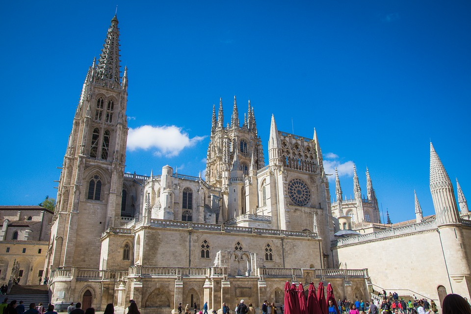 Burgos, Cathedral, Spain, Church, Tower, Building