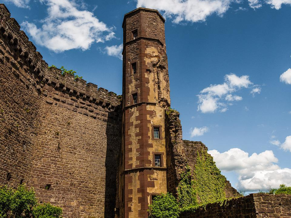 Burgruine, Fortress, Castle Wall, Old, Stone