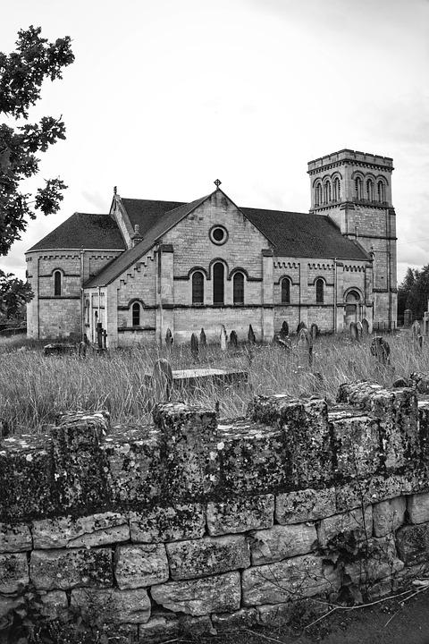 Church, Burial Ground, Graveyard, Cemetery, Church Yard