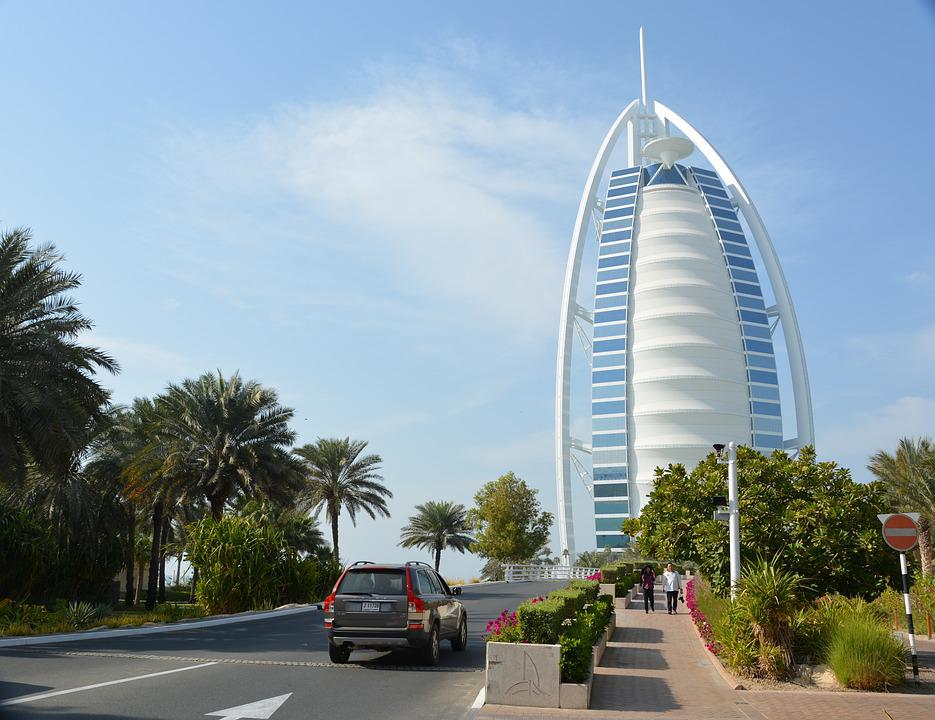 Dubai, Sailboat, Burj Al Arab, Emirates, Hotel