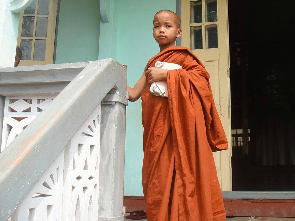 Monk, Myanmar, Religion, Buddhism, Burma, Child, Boy