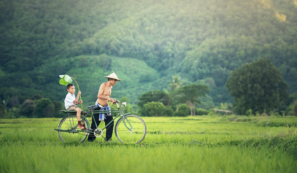 Bicycle, Cambodia, Outside, Myanmar, Burma, Family