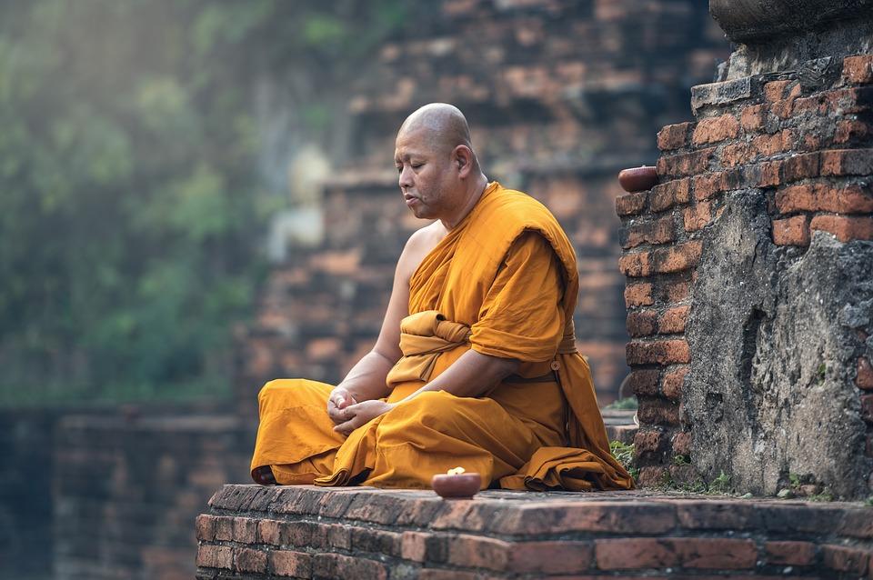 Adult, Eat, Ancient, Asia, Burma, Faith, Buddha