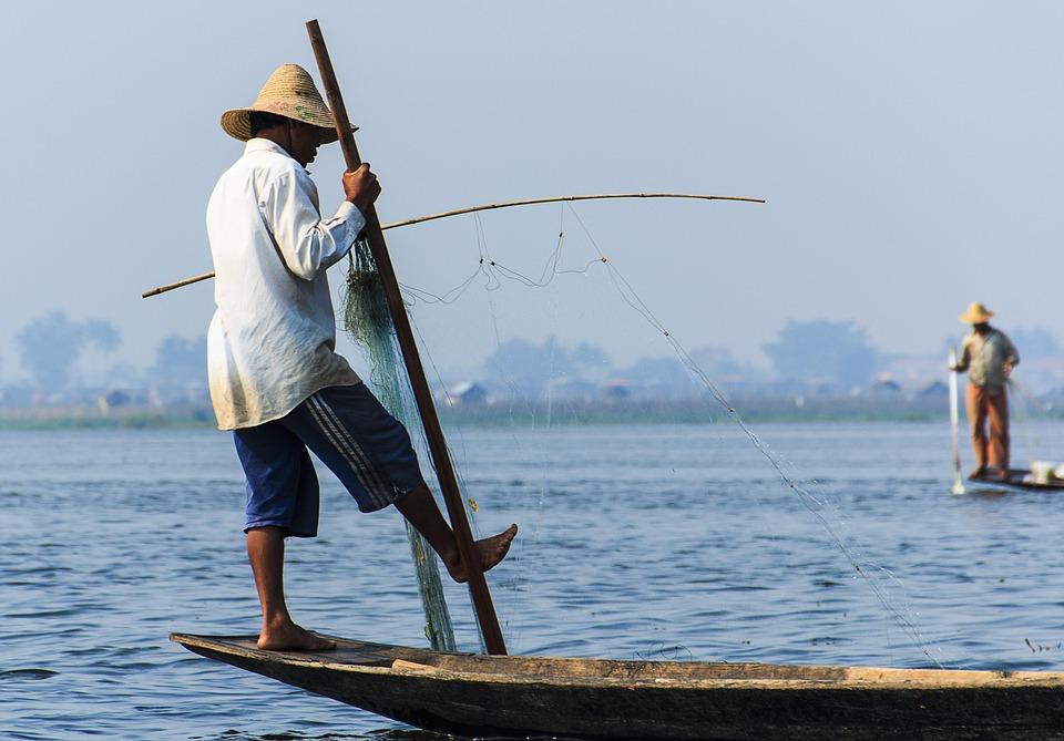 Inle Lake, Burma, Boat, Inle, Lake, Fishermen