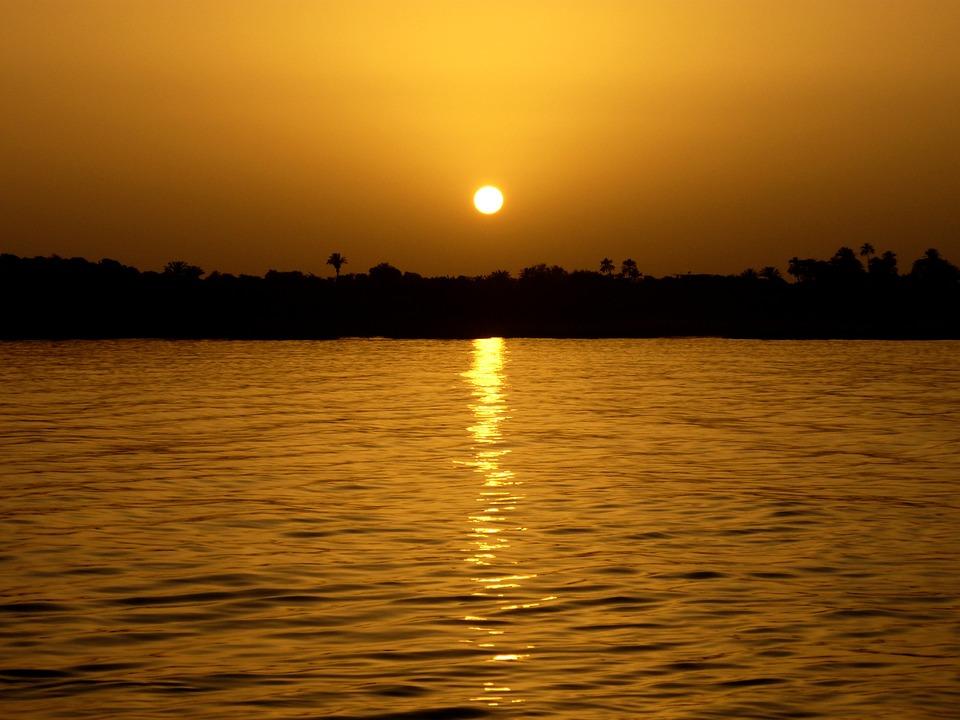 Sunset, Burma, River, Myanmar, Twilight, Travel
