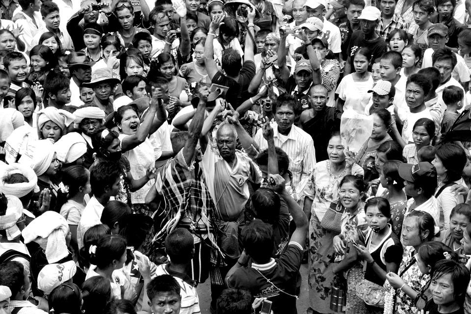 Demonstration, Burmese, People, Mae Sot