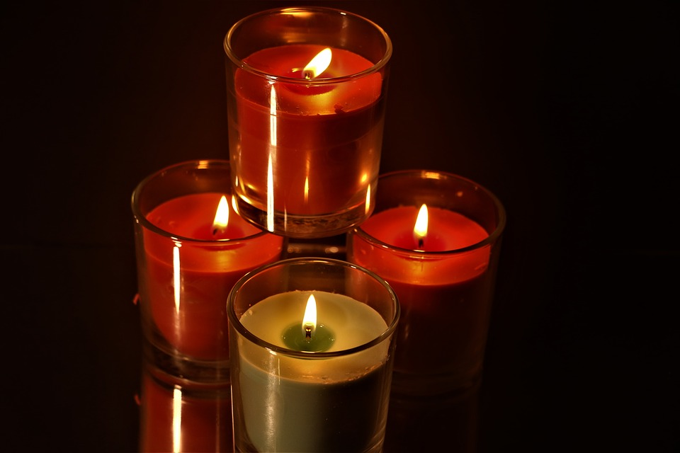 Candles, Lit, Flame, Candlelight, Burn, Mood, Wick
