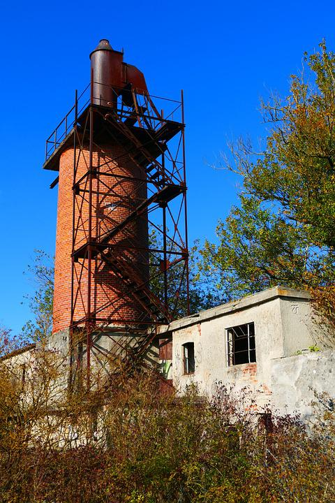 Lime Kiln, Tower, Bricks, Burn, Old, Chimney, Industry