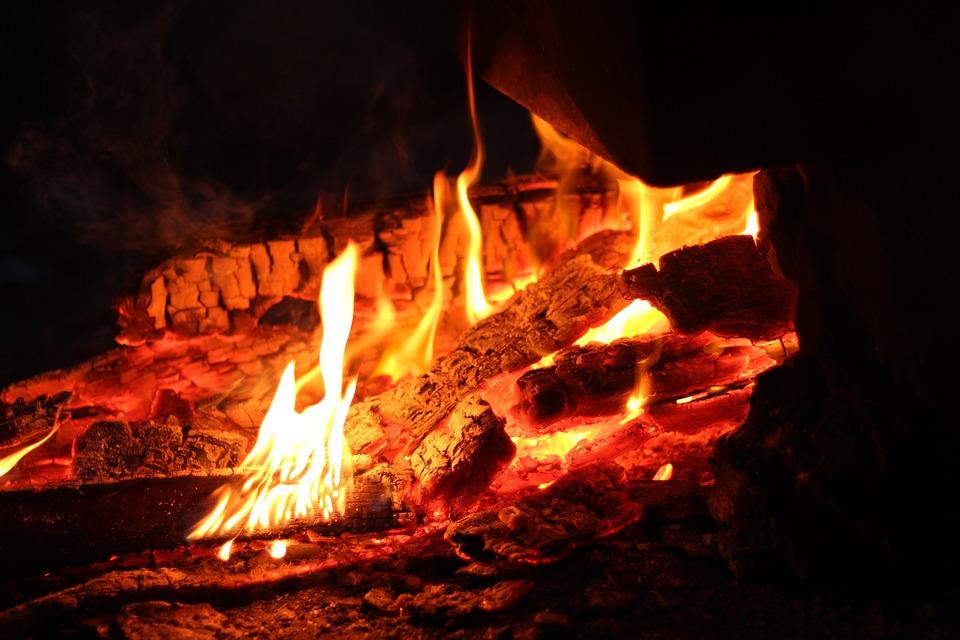 Fire, Night, Koster, Burn, Firewood, Fever, Background